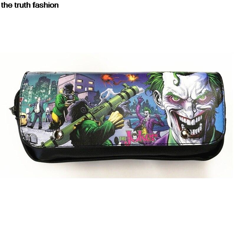 2019 Neuer Stil Haspe Abdeckung Design Cartoon Joker Selbstmord Squad Kosmetiktaschen Frauen Täglichen Gebrauch Make-up Taschen Für Mädchen Weibliche Reißverschluss Kosmetik Fall