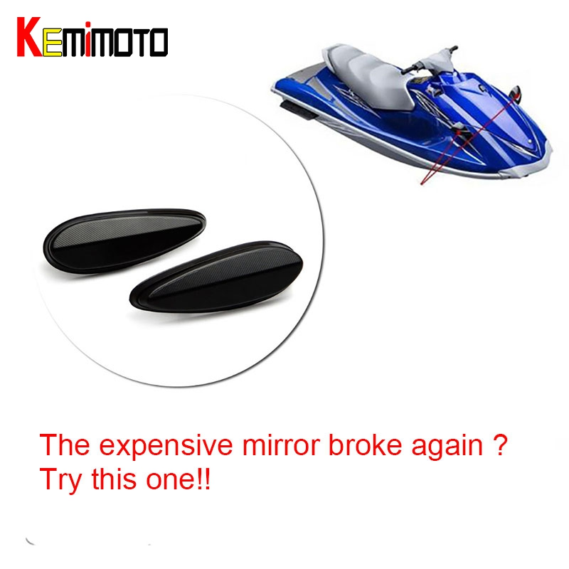US $24 9 17% OFF|KEMiMOTO for Yamaha PWC Personal Watercraft for WaveRunner  VX Deluxe 110 Dlx Cruiser Sport CNC Mirror Block Mirror Replacement-in