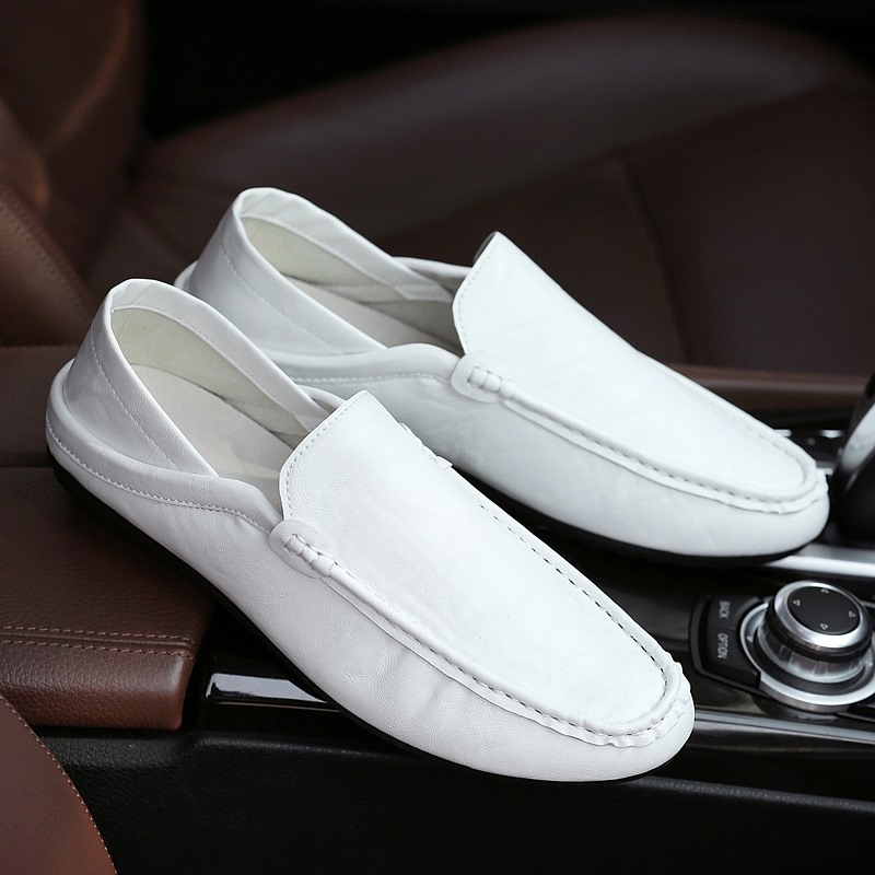 Loafers Shoes Flats Slip-On Mens Luxury Brand New Male Soft PU Zapatos-De-Hombre