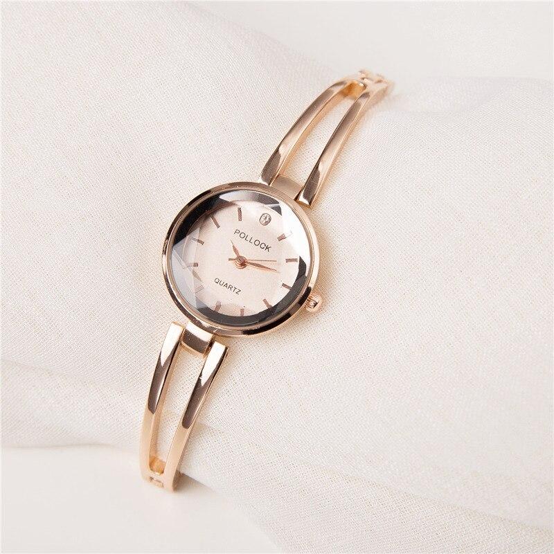 2018 New fashion Brand Rose Gold Women Bracelet Watches Fashion Luxury Quartz-Watches Ladies Casual Dress Sport Watch Gift Clock