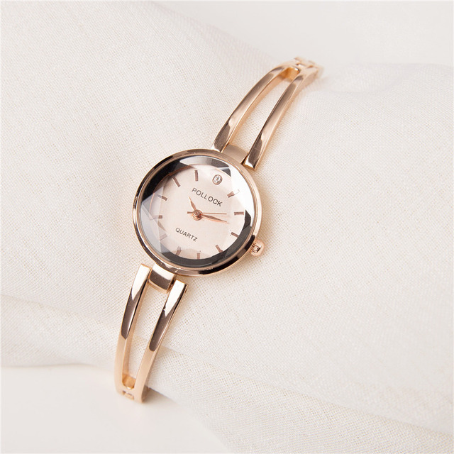 2018 New fashion Brand Rose Gold Women Bracelet Watches Fashion Luxury Quartz-Wa