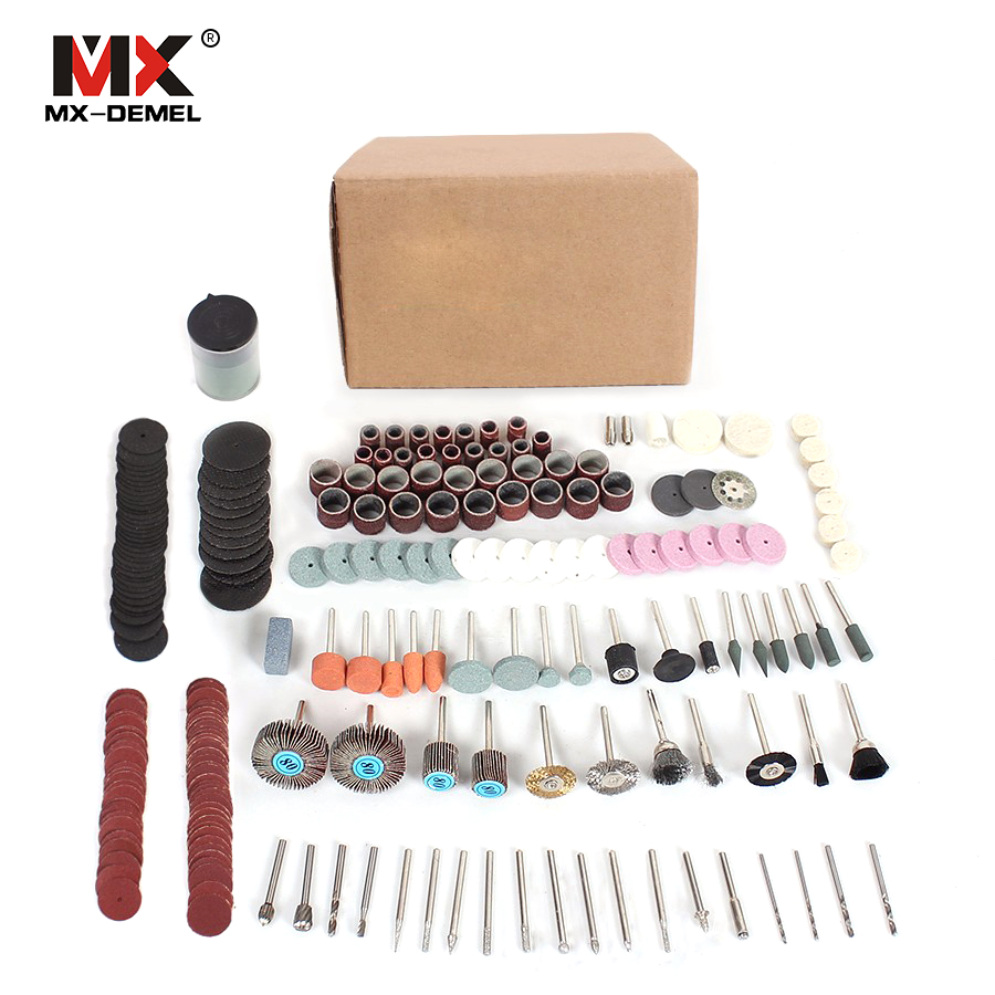 MX-Deme 248 unids herramienta rotativa Accesorios fácil Cúter molienda lijado Tallados y pulido combinación herramienta para Hilda dremel