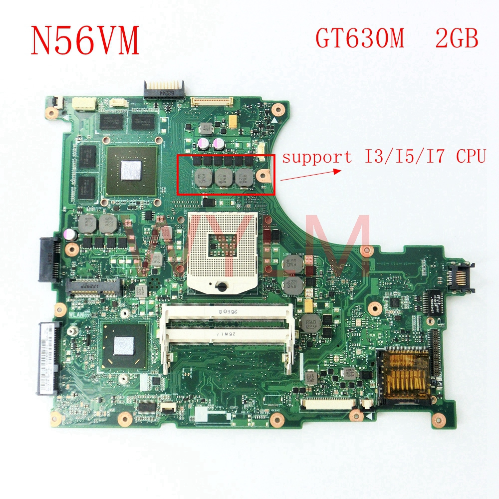 free shipping N56VM GT630 2G mainboard For ASUS N56V N56VM N56VV N56VJ N56VB N56VV N56VZ Laptop motherboard 60-N9JMB1300-(F06) free shipping new original n56v n56vm motherboard main board 60 n9jmb1300 gt630m n13p gl a1 100% tested working