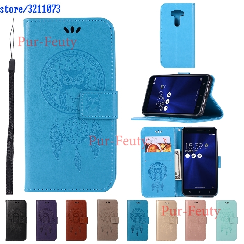 Flip Case for Asus ZenFone 3 ZE520KL Z017D Z017DA Z017DB <font><b>ZE</b></font> ZE520 <font><b>520</b></font> 520KL <font><b>KL</b></font> Case Leather Cover for ASUS_Z017D ZenFone 3 Funda image