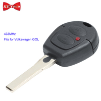 KEYECU for Volkswagen GOL New Replacement Keyless Entry Remote Contorl Car Key Fob 433MHz Uncut Blade