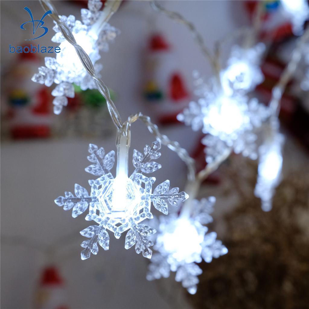 2m Fairy String Light Battery Operated Indoor Outdoor Decor Snowflake White