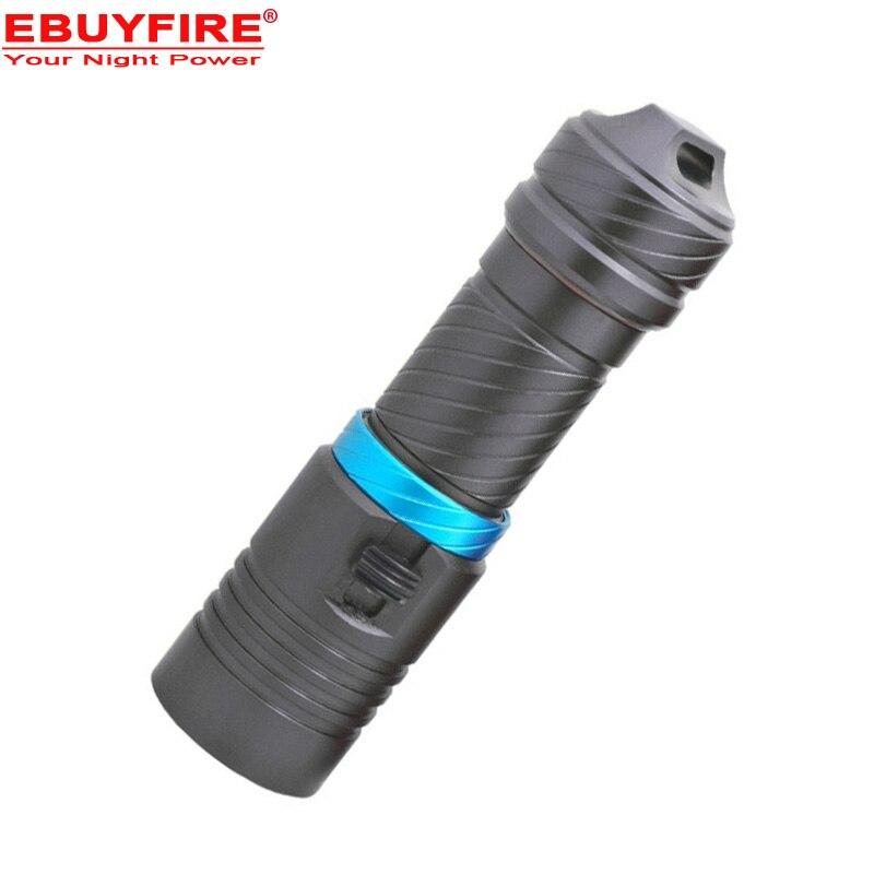 Plongée 100 m XM-L2 26650 lampe de poche Sous-Marine led lumière magnétique interrupteur étanche Flash lumière torche par 18650 ou 26650