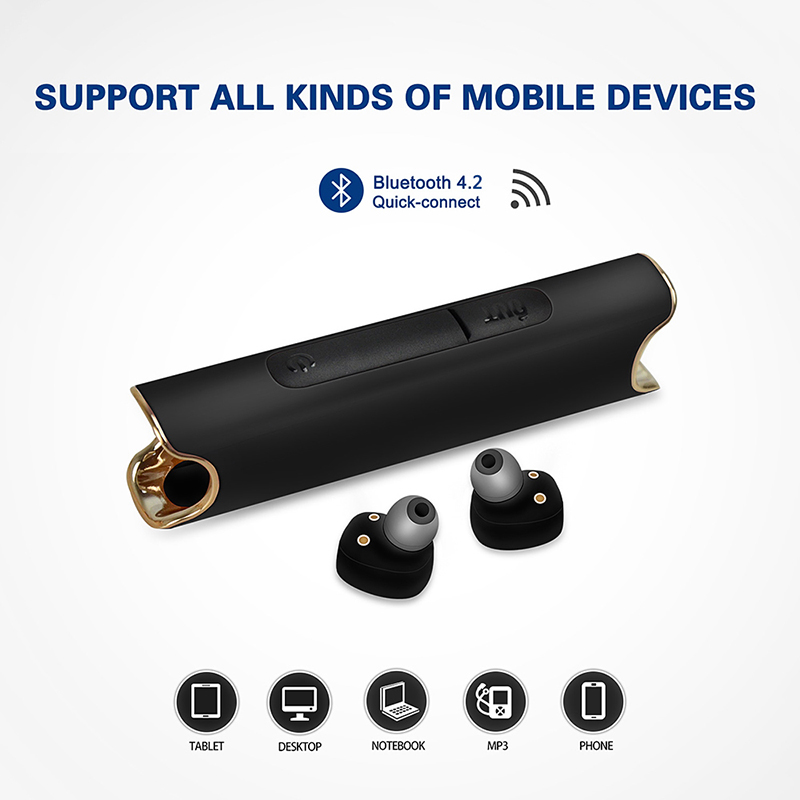 OKCSC Bluetooth Wireless Earphone For Phone IPX7 Waterproof With Power Bank Magnetic Stereo Headset For iPhone Android
