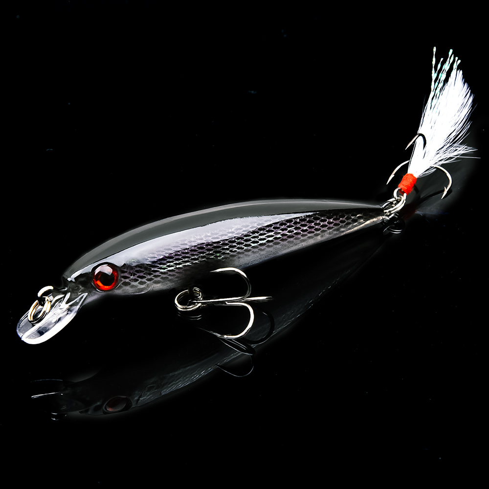 Fulljion Minnow Baits Fishing Lures Iscas Artificiais for Carp Fishing with Feather Hooks Wobbler Olta leurre Peche De Pesca