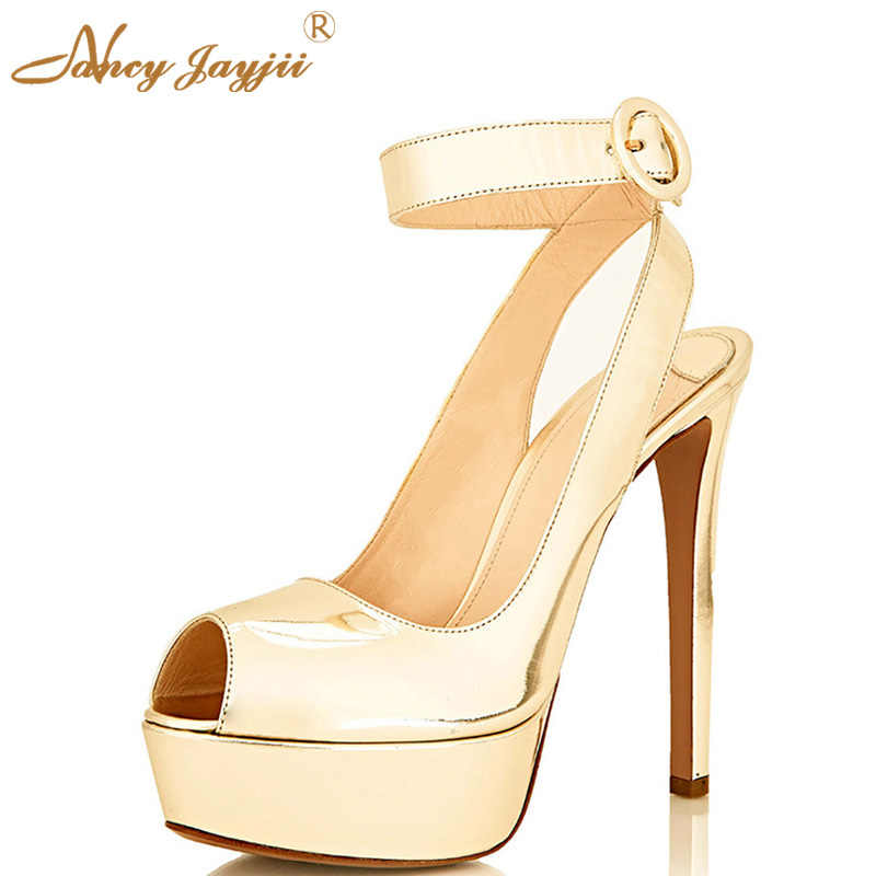 b4e2163749 Detail Feedback Questions about Classic Nude Peep Toe Mental Shoes ...