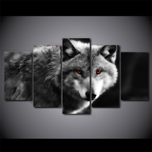 5 panel HD Wolf Poster