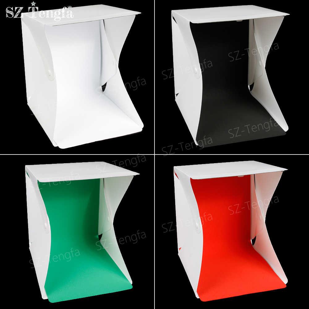 Лайтбокс portatile мини softbox светодиодный фотостудия Pieghevole световой  короб Камера подать заявку Fotografia светлая коробка Softbox c71b39ac29700