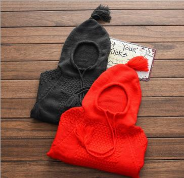2016 New Style Kids Sweater Knitted Hooded Clothes Bebe Baby Children Clothing Outerwear Coat 2-7Years Wool 2 Colors