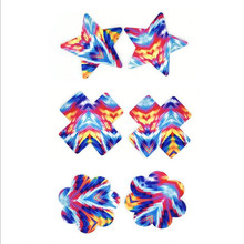 Sexy experience10 pairs (20Pcs) women Nipple Covers  Breast Petals Disposable Pasties color Camouflage
