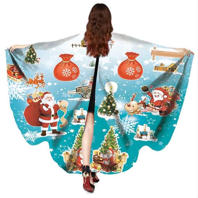 6816a02cc7fb6 US $4.84 37% OFF Aliexpress.com : Buy Feitong 2019 Shawl scarf women poncho  Christmas Print Poncho Costume Accessory poncho xales e ponchos ladies ...