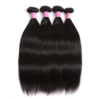 Real Beauty Peruvian Straight Hair Weave 100% Human Hair 4 Bundles Natural Color Non Remy Hair Weaving Extensions 8 30Inch