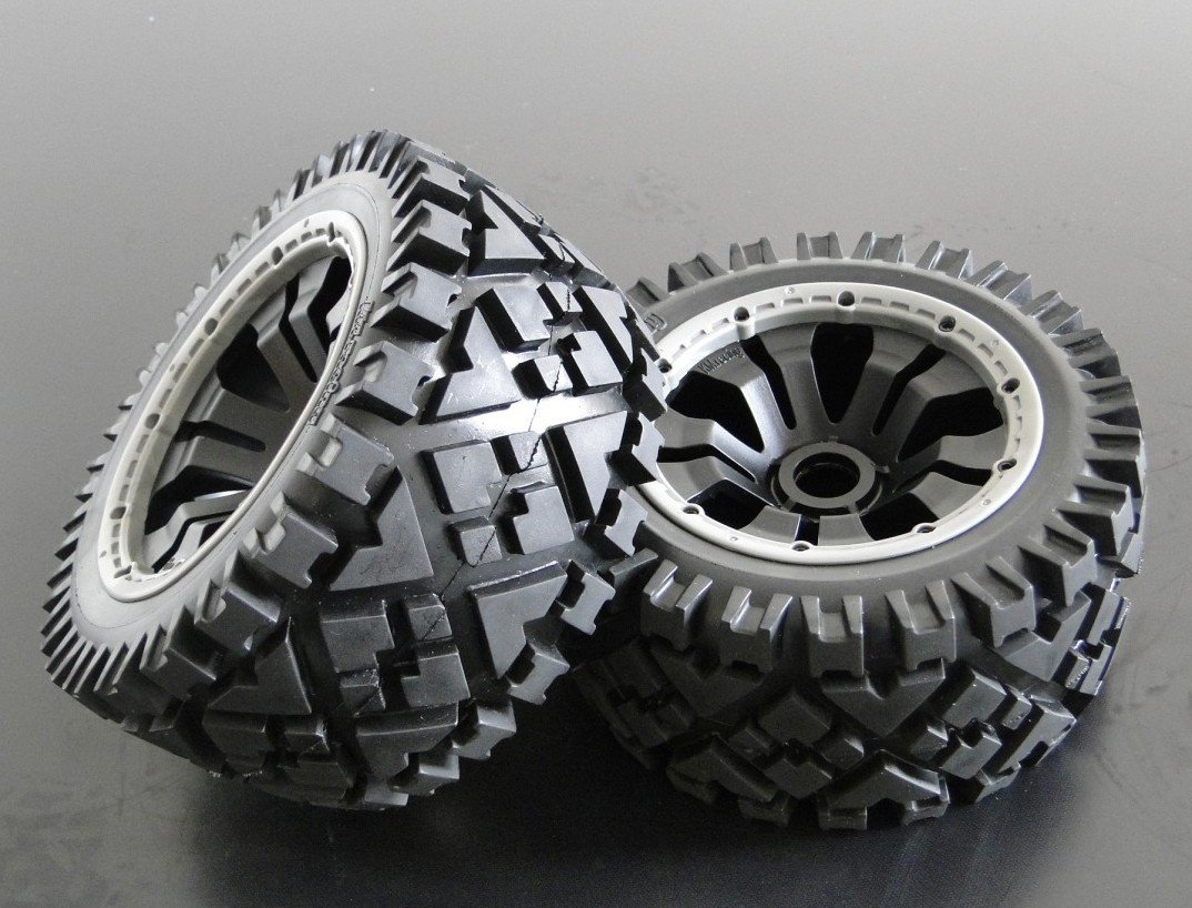 baja 5b all road front  wheels set (only front) baja 5b off road front wheels set only 2pc front