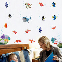 nemo fish cartoon wall sticker for shower tile stickers in the bathroom for children kids baby on bath