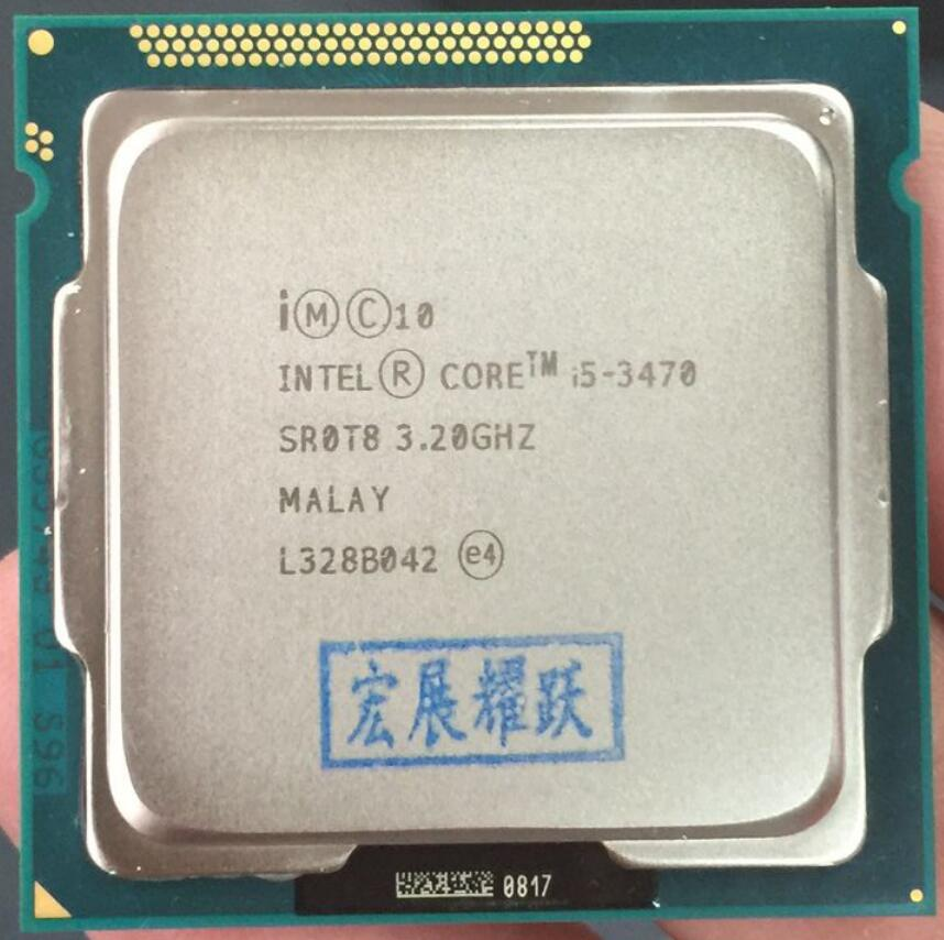 Intel Core i5-3470 i5 3470 Processeur (6 M Cache, 3.2 GHz) LGA1155 ordinateur pc De Bureau CPU