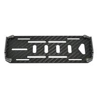 1 10 RC Car Black Carbon Fiber Battery Mounting Plate Scx10 CC01 F350 D90 Rc4wd