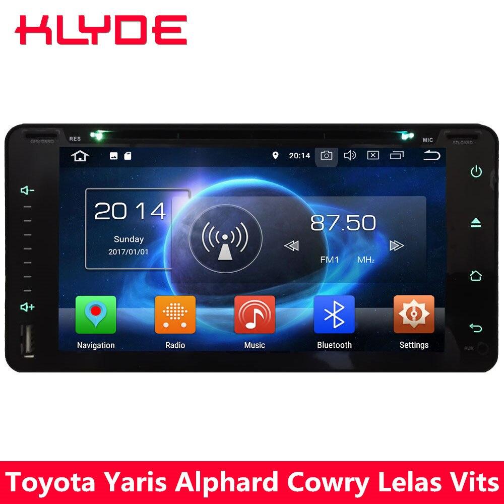 KLYDE 4 г Octa Core 4 ГБ + 32 ГБ Android 8,0 7,1 6,0 dvd-плеер автомобиля радио для Toyota camry Avanza Hiace Sequoia Land Cruiser 100 4500