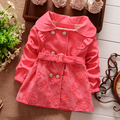 Весна хлопок кружево куртки кардиган младенцы дети девочки младенческой пальто дети пиджаки пальто