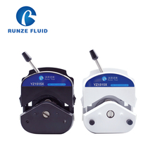 Runze 6 Rollers Small Pulse YZ1515X Peristaltic Pump Head Silicon/Rubber Tubing peristaltic pump v1 dispensing 3 channel 3 yz1515x 0 007 570 ml min per channel ce certification one year warranty