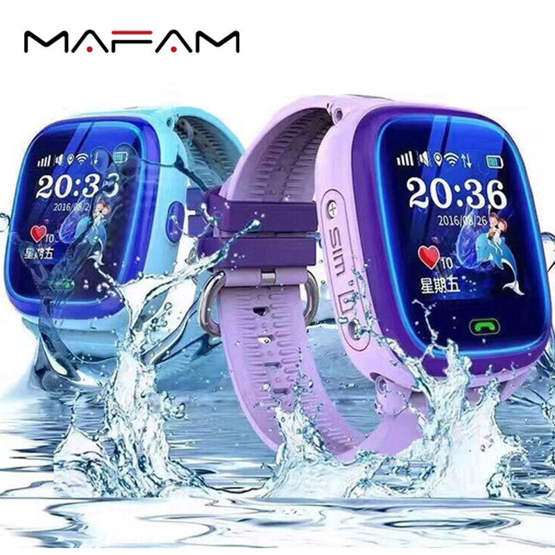 MAFAM Kids Smart Watch GPS for Children DF25 Touch Screen SOS Call IP68 Waterproof Remote Control PK Q50 Q90 GPS Smart Watch