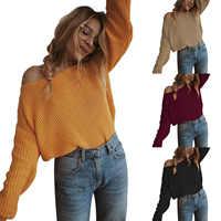 Epaules dénudées pull femme pull tricoté pull femmes manches longues pulls larges surdimensionné pull pull femme grande taille 5XL