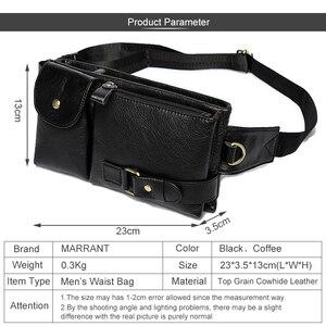 Image 3 - MVA riñonera informal de cuero genuino para hombre, bolso para la cintura, para dinero y teléfono, 9080