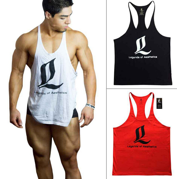 Gym Tank Top Men bodybuilding stringer tank tops Fitness Singlet Sleeveless shirt Workout Clothing Golds GASP ZYZZ - ZheJiang SunShine Import&Export Co.,Ltd store
