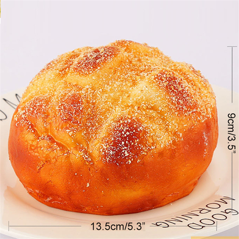 1 Piece Creative Artificial Bread PU Fake Bread Dining Table Decorations Restaurant Bakery Decoration Fake Pineapple Bread in Artificial Foods Vegetables from Home Garden