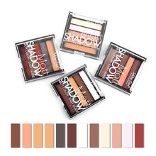 Blueness 4 Styles Eyeshadow Palette 5 Colors Beauty Makeup Glitter Eye Shadow Matte Make Up Pigment