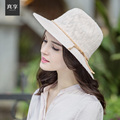 Girls Summer Holiday Beach Hat Lady Panama Caps Female Wide Brim Sun Hat Fashion Outside Travel Cap B-4704