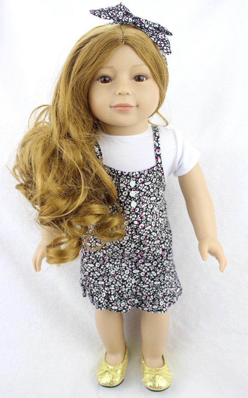 45 CM fabric Body Vinyl Silicone American girl Reborn Baby Doll Girl Toys Almost Real Lifelike Baby Dolls for kid Reborn Bonecas недорого