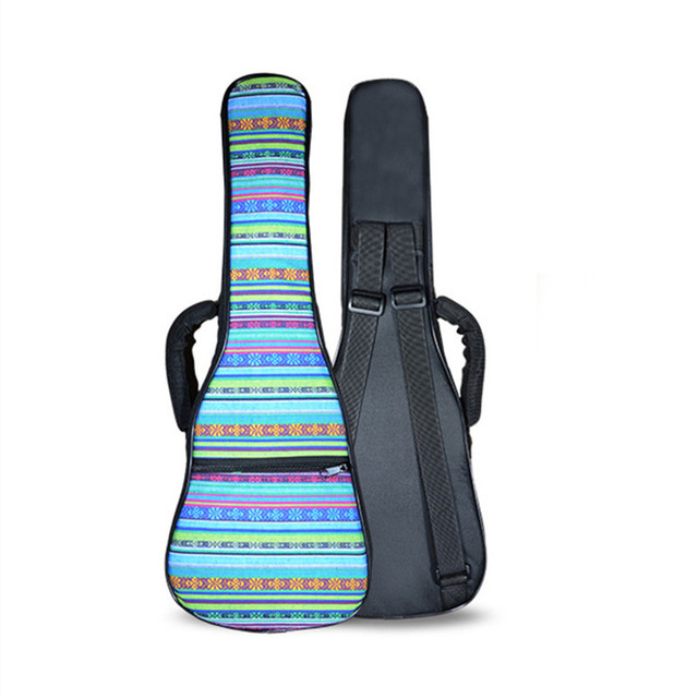 Hot kids gift 21 26 concert ukulele bag soprano case lanikai funda para tenor guitar backpack  colorful pattern soft gig