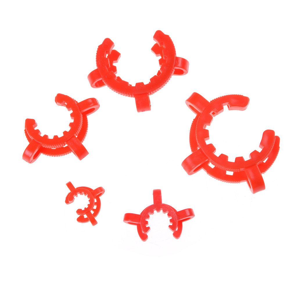 10PCS  14#  11mmx15mm Laboratory Plastic Clip Lab Keck Clamp Use For Glass Ground Joint Random Color