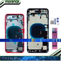 Full Housing for iPhone 8 8G Plus 8Plus Back Battery Door Cover Middle Frame Chassis with Flex Cable Assembly Replacement Parts