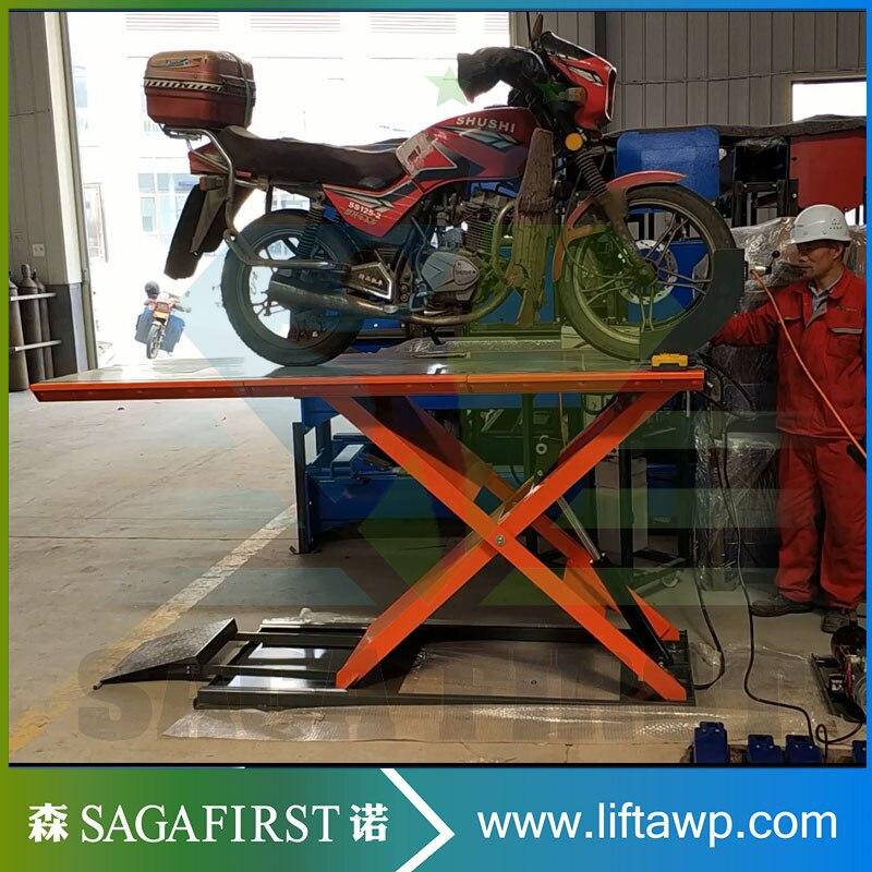 Air hydraulique moto vélo élévatrice à ciseaux rampe moto ascenseur