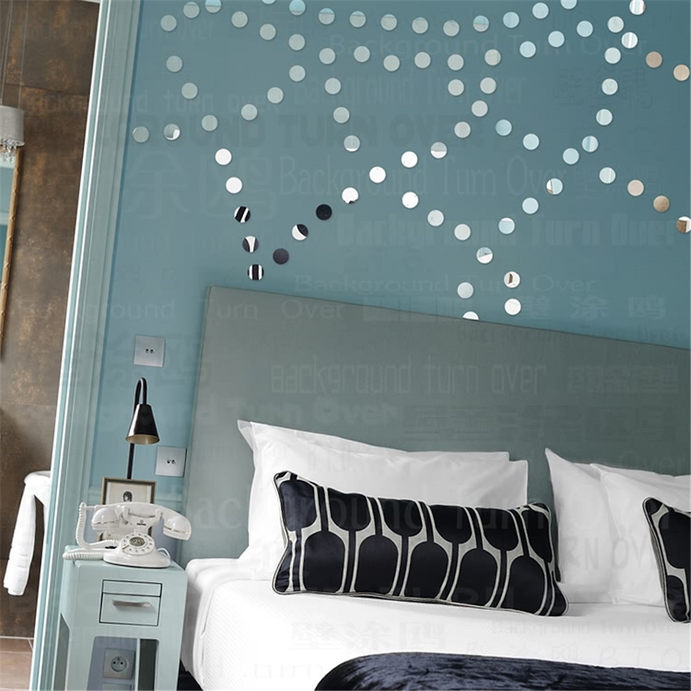 Stickers Bordeaux Us 22 4 115pcs Set Diy Bordeaux Dot Sun Acrylic Mirror Wall Stickers Bed Hed Decal Bedroom Home Interior Decor 3d R088 In Wall Stickers From Home