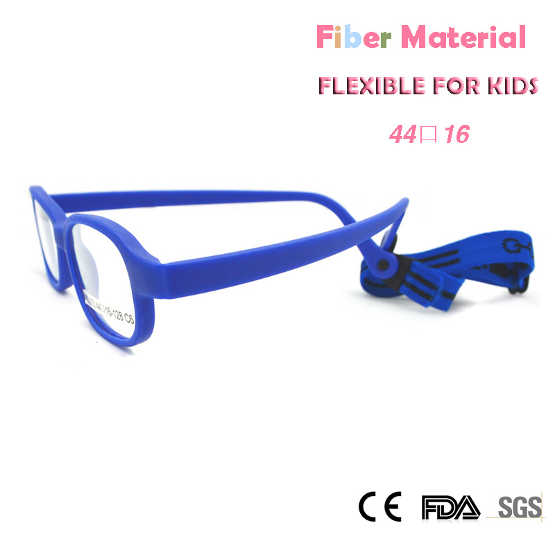 ZBZ New Kids Carbon Fiber Eyeglasses Frames Stylish Safety Flexible Child Glass frame with Strap Unbreakable oculos de grau