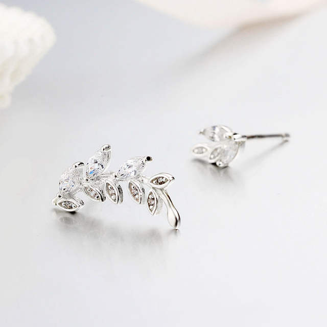 484b50c1b placeholder Sterling silver jewelry 925 latest earring tree beautiful cheap  earrings pendant CZ green buy earrings online