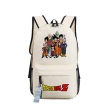 Japanese Anime Dragon Ball Z Canvas Bag Backpack Goku Super Saiyan Student School Bag For Teenagers Boys Girls Travel Laptop Bag