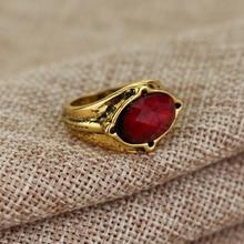 MQCHUN Narya Gandalf Ring of Fire jewelry elf Three Rings Great Rings fashion men jewelry