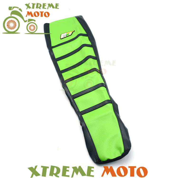 Green Gripper Soft Seat Cover For Kawasaki KX85 KX100 KX 85 100 01-13 Motorcycle Motocross Dirt Pit Bike Off Road Enduro цена