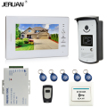 JERUAN Brand New 7`` Color Screen Video DoorPhone Intercom System 1 Monitor +700TVL RFID Access Camera + Remote Control