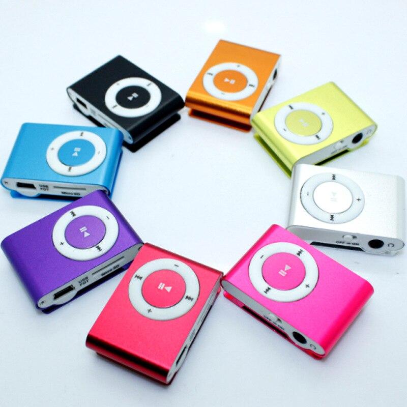 Спорт 3.5 мм мини MP3-плееры Micro USB металлический зажим mp3 поддержка до 16 ГБ TF-слот для карты цифровой MP3 плеера Портативный аудио