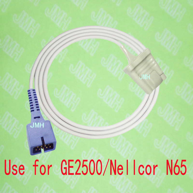 Compatible with GE 2500 and Nellcor N65 Pulse Oximeter monitor, Adult silicone soft tip spo2 sensor,9PIN.Compatible with GE 2500 and Nellcor N65 Pulse Oximeter monitor, Adult silicone soft tip spo2 sensor,9PIN.