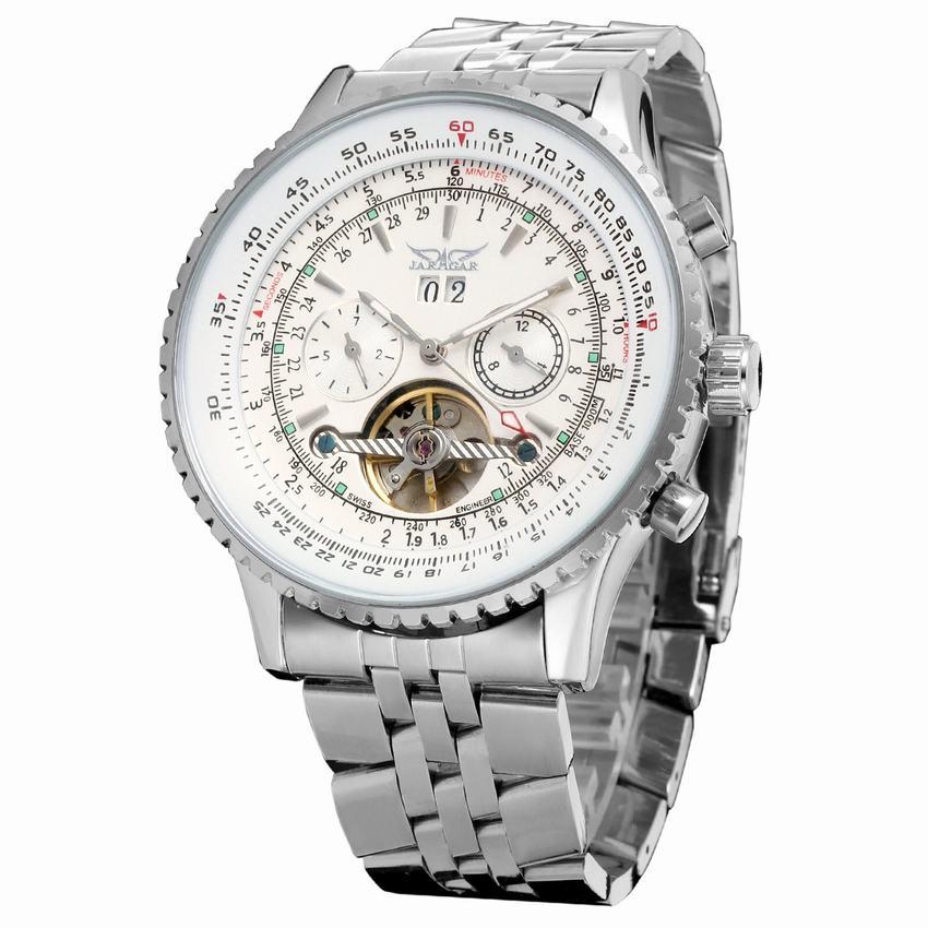 Mens Luxury Watch Automatic Self-Wind Sport Casual Watch Tourbillon Mens Stainless Steel Belt Wrist Watches все цены