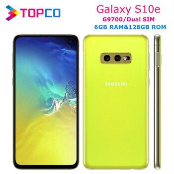 Samsung Galaxy S10e G9700 Original Unlocked LTE 5G Android Mobile Phone Dual Sim Qualcomm Octa Core 5.8 16MP*12MP 6GB RAM NFC